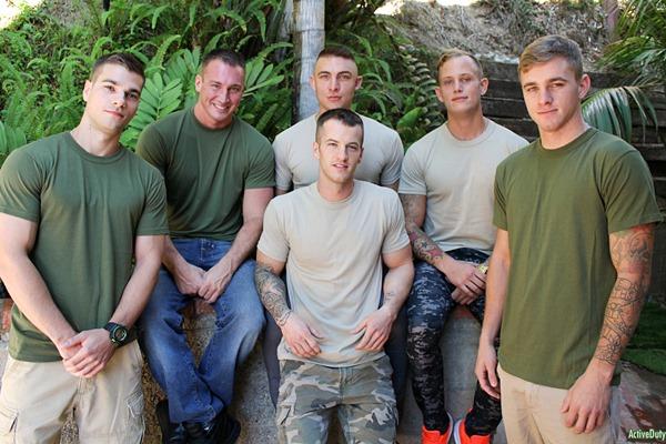 Quentin Gainz, Craig Cameron, Zack Matthews, Ryan Jordan, Princeton Price and Ripley in Christmas 2016 - 6-Man Orgy at Activeduty