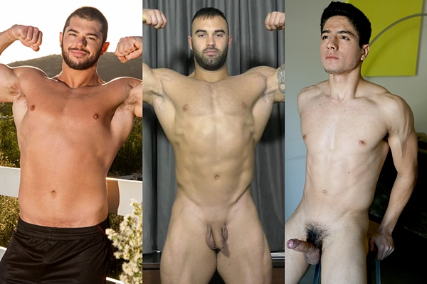 Hot newcomers Arnie, Calvin and Lucas Garza blow their hot loads