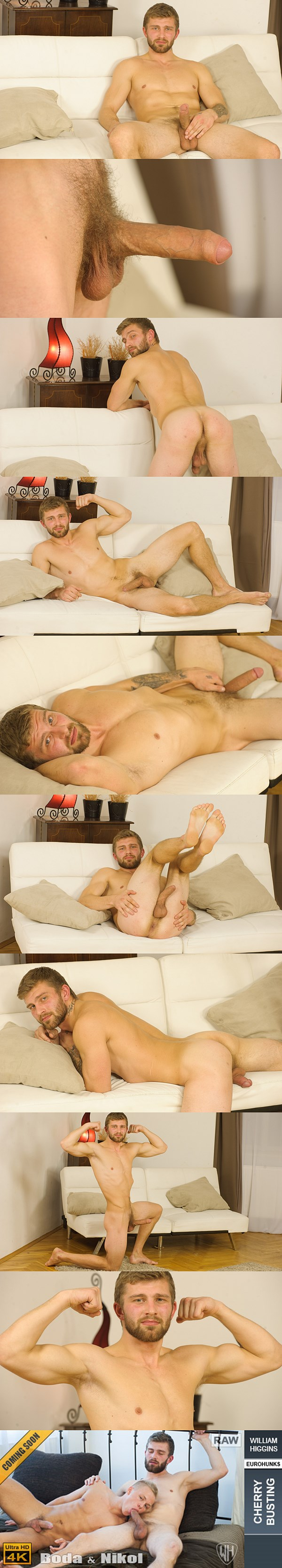 Rugged handsome straight jock Nikol Monak will get fucked for the first time at Williamhiggins