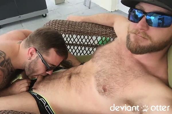 Deviant Otter barebacks hot hairy bear cub Zeke Johnson in Subcub at Deviantotter