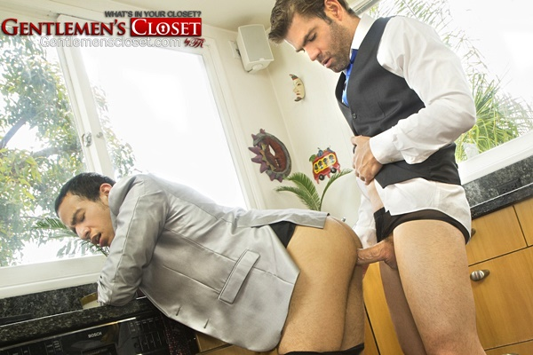 Tyler Benson barebacks his real life lover Sebastian Riverpol in Sheer Sox at Gentlemenscloset