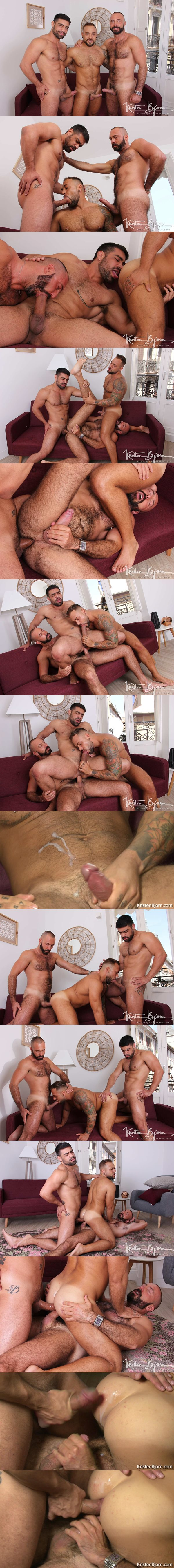 Wagner Vittoria, Sergi Rodriguez and Xavi Garcia bareback each other in Hot Stuff: Deep And Tight at Kristenbjorn 02