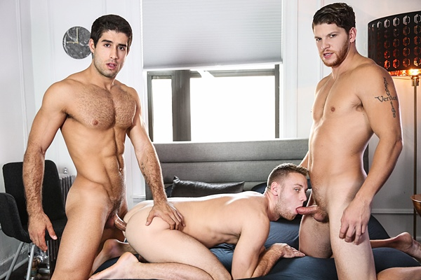 Ashton McKay and Diego Sans tag team Brandon Evans in Speed Dating at Drillmyhole