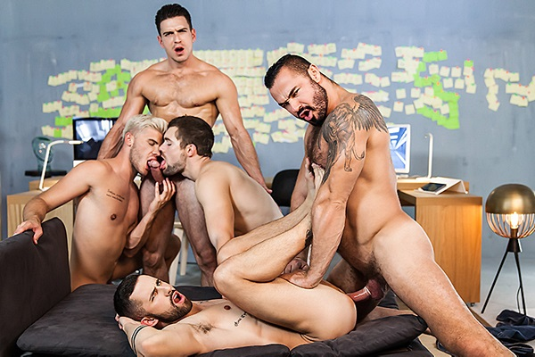 A Sneak Peek of Jessy Ares & Paddy O'Brian fucking Griffin Barrows, Ken Rodeo & Sunny Colucci at Men