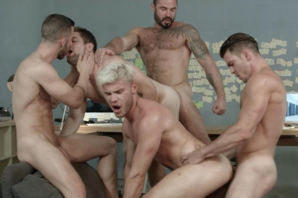 A Sneak Peek of Jessy Ares & Paddy O'Brian fucking Griffin Barrows, Ken Rodeo & Sunny Colucci at Men 01