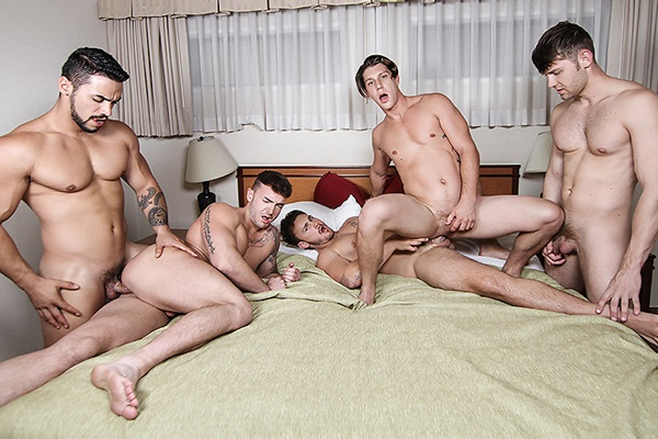 A Sneak Peek of Arad Winwin & Trevor Long fucking Jacob Peterson, Jake Ashford & Paul Canon at Jizzorgy