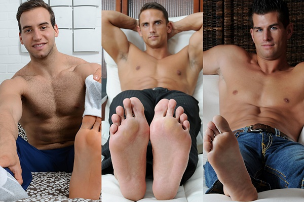 Hot straight guys Tobal, Cody, Tod show off their big feet at Myfriendsfeet