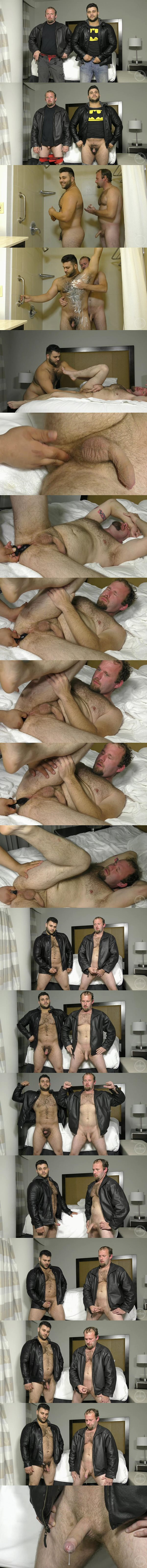 Muscle bear Marcelo fucks Chance's hairy muscle ass with a butt plug at Theguysite 02