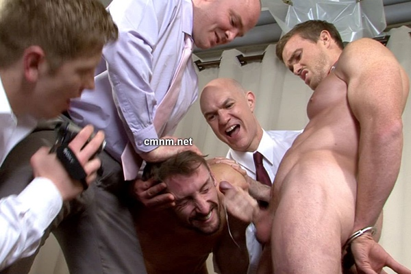 Hot straight guy Nick and Matteo humiliated, ass fingered and wanked off at Cmnm