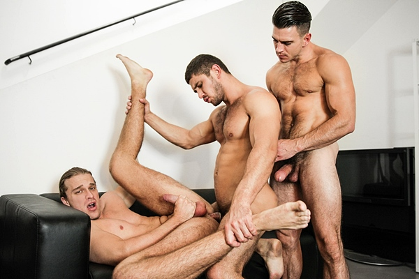 Dato Foland fucks Johan Kane while Paddy O'Brian is watching in Made You Look Part 2 at Drillmyhole