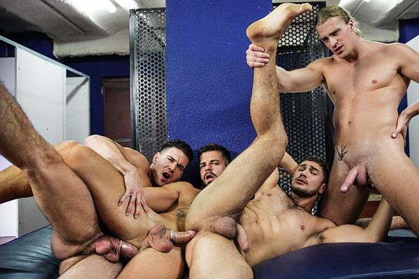 Paddy O'Brian Fucks Dato Foland, Hector De Silva and Johan Kane in Made You Look Part 4 at Jizzorgy