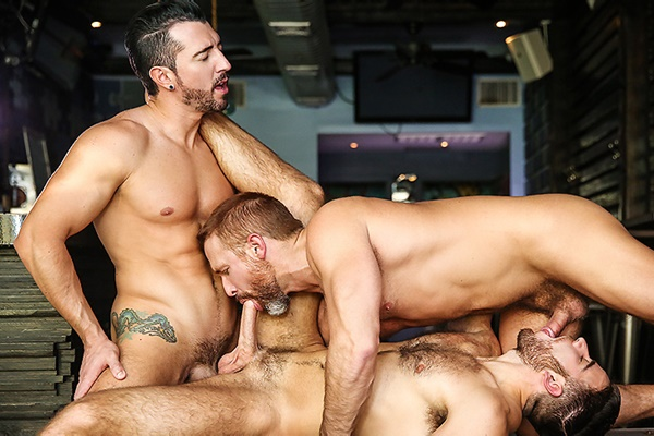A Sneak Peek of Jimmy Durano fucking Dirk Caber and Jackson Grant at Drillmyhole