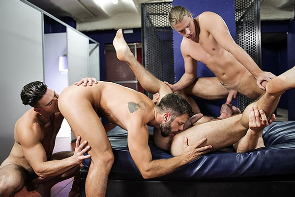 A Sneak Peek of Paddy O'Brian fucking Dato Foland, Hector De Silva and Johan Kane at Jizzorgy