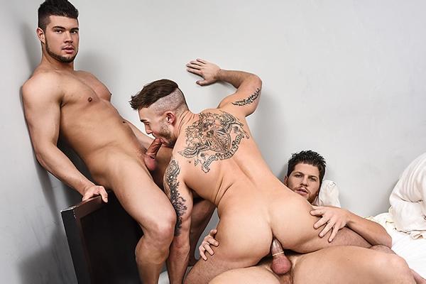A Sneak Peek of Ashton McKay and Brad Banks fucking Jake Ashford at Drillmyhole
