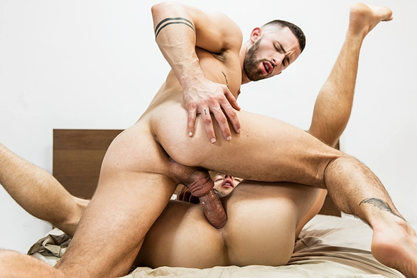 Hot muscle jock Sunny Colucci flip-fucks Tayte Hanson in Fuck Him Up Part 1 at Drillmyhole