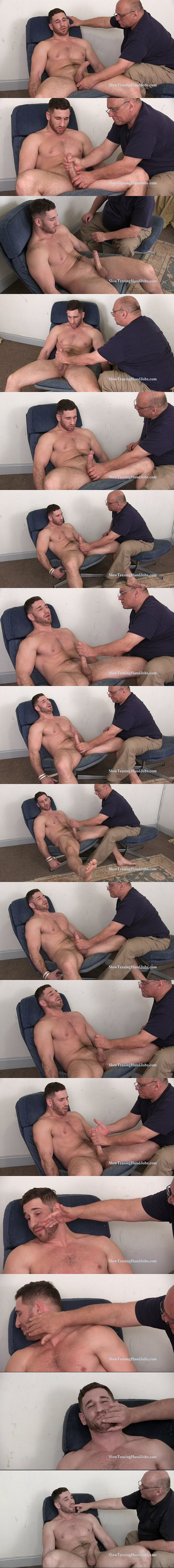 Hot macho hunk Anthony gets jerked off before he tastes his own load at Slowteasinghandjobs 02