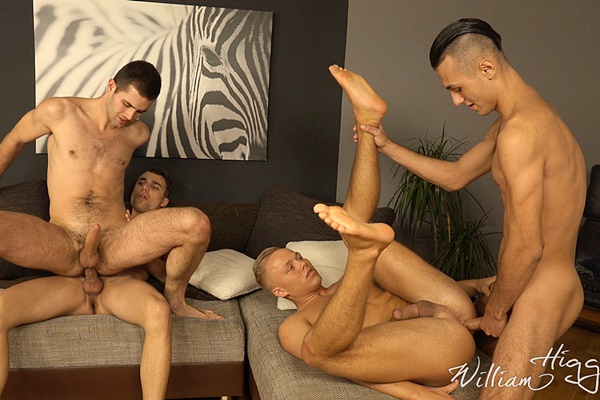 Petr Plodner and Romi Zuska Bareback Alan Carly and Boda Gold in Wank Party 79 Part 2 at Williamhiggins