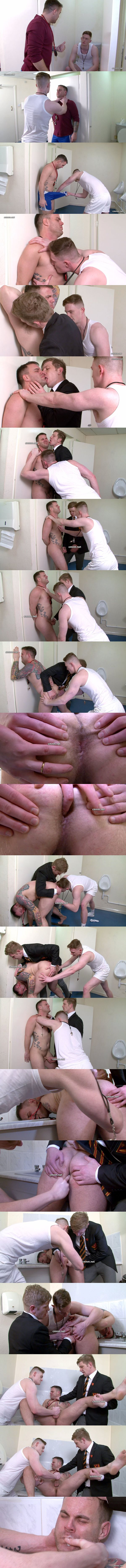 Cocky straight sporty teacher Mr Bullock dominated, humiliated, ass fingered and jerked off at Cmnm 02