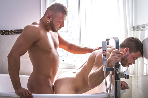Mateo fucks the cum out of Kevin David The Hockey Tournament Part 2 Shower Stall Seduction at Colbyscrew