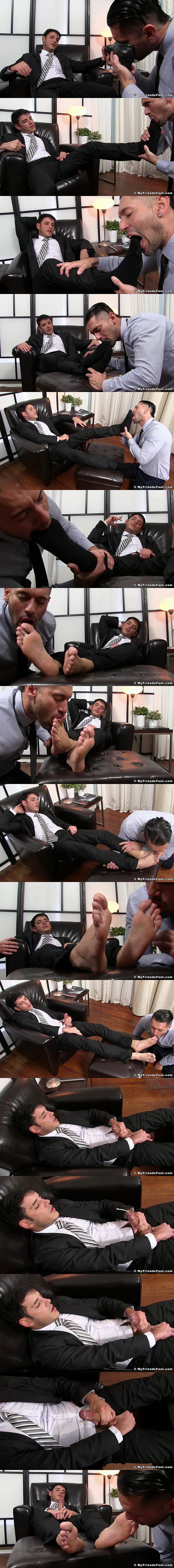 Handsome straight boss Rego dominates Alex Garrett with his feet at Myfriendsfeet 02