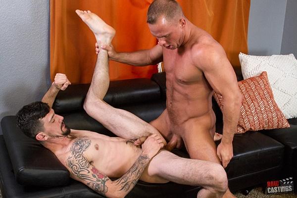 Austin Andrews breeds bicurious construction worker Dana Nova's tight virgin ass at Rawcastings