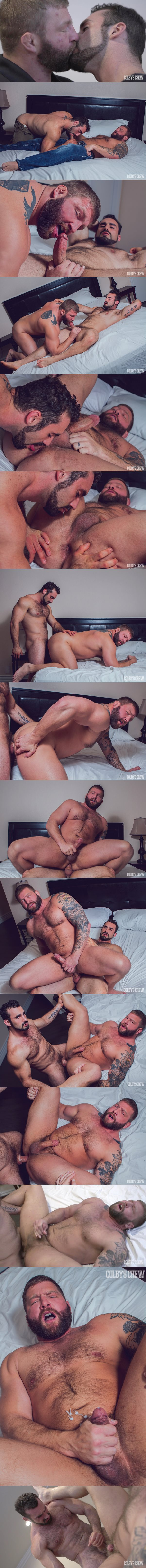 Hairy beefy stud Jaxton Wheeler fucks the cum out of Colby Jansen at Colbyscrew 02
