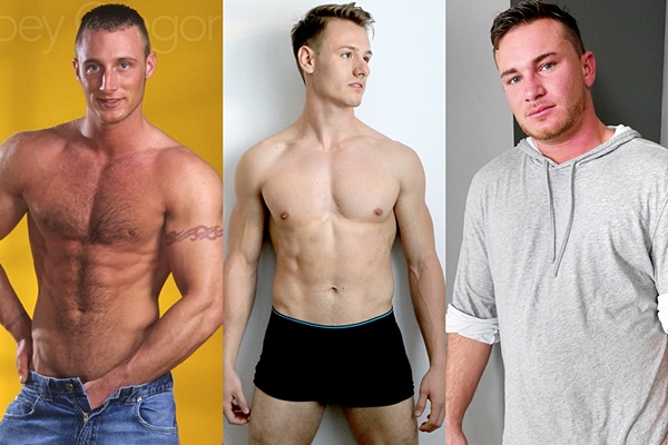 Joey Gregor at Legendmen, Adam Mackie at Gayhoopla and Brenden Steel at Brokestraightboys
