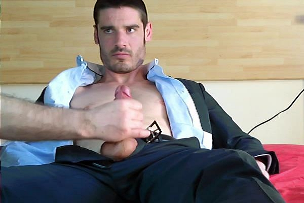 Hot French straight guy Pierre massaged by two guys at Keumgay