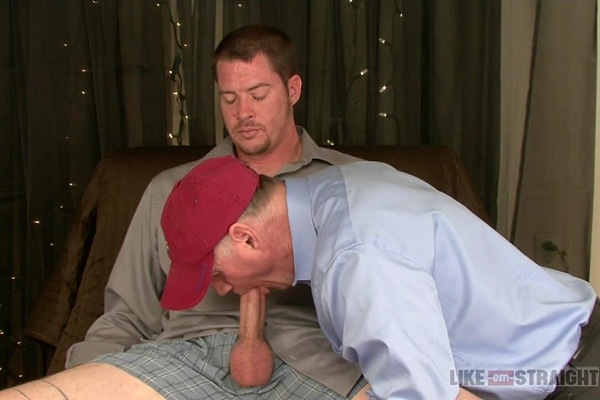Macho contruction worker mike gets two loads jerked off in a Row in Dick Dynasty at Like-em-straight