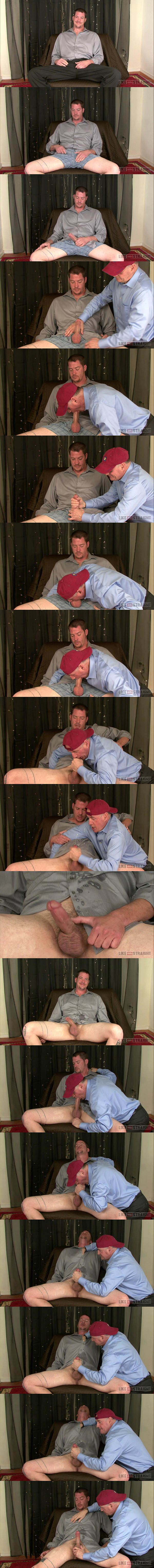 Macho construction worker mike gets two loads jerked off in a Row in Dick Dynasty at Like-em-straight 02