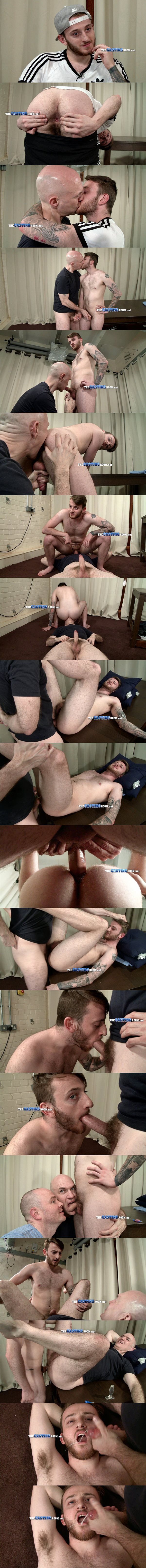 Young British straight footballer Max gets his virgin ass popped up at Thecastingroom 02