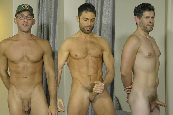 Hot straight guys Joe, Luke and Nixon jerk off at Theguysite