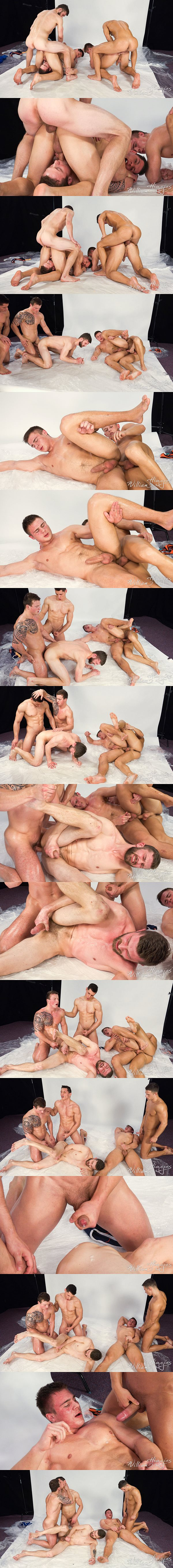 Filo Bruska and Martin Hovor bareback Nikol Monak, Peter Lipnik and Viktor Adam in Wank Party 81 Part 2 at Williamhiggins 02