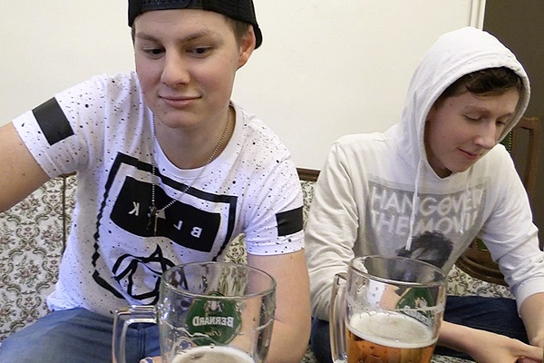 The camera guy barebacks two cute straight boys in Czech Hunter 297 at Czechhunter