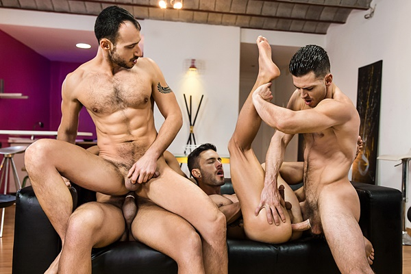 Paddy O'Brian and Lucas Fox fuck Andy Star and Ely Chaim in Hat Trick Part 3 at Jizzorgy