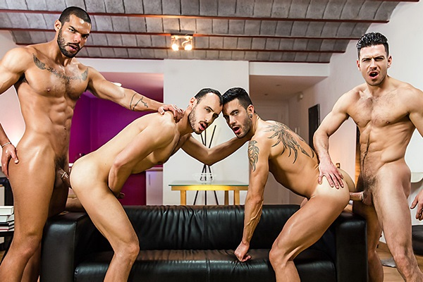 A Sneak Peek of Lucas Fox and Paddy O'Brian Fucking Andy Star and Ely Chaim at Jizzorgy