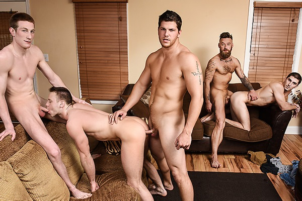 A Sneak Peek of Ashton McKay and Kyle Fucking Brandon Evans, Damien Kyle and Hoytt Walker at Jizzorgy