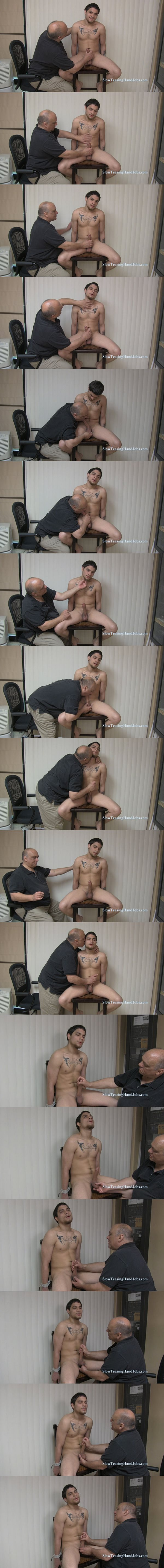 Spanish straight jock Ray finger fucked and jerked off in Horny Young Dad at Slowteasinghandjobs