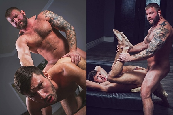 Sexy fuzzy daddy Colby Jansen fucks muscle jock Scott DeMarco at Colbyscrew