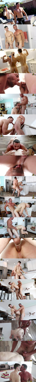 Muscle jock Derek Jones fucks the cum out of James Manziel at Gayhoopla 02