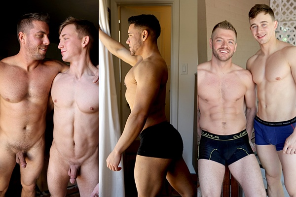 New scenes starring fit jock Jimmy Coble, Michael Santos, Sean Holmes, Derek Jones, James Manziel and Collin Simpson at Gayhoopla