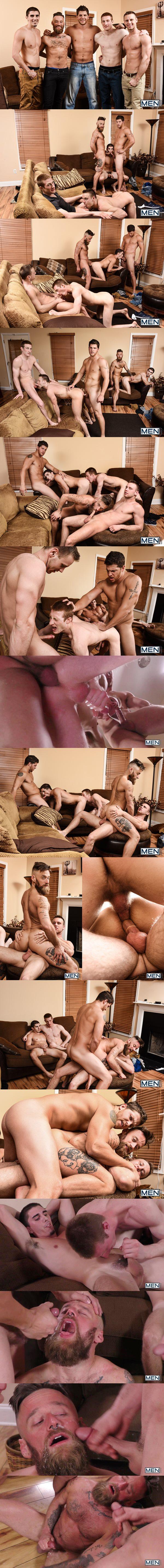 Ashton McKay fucks Brandon Evans, Damien Kyle, Hoytt Walker, Kyle at My Cousin Ashton Part 3 in Jizzorgy 02