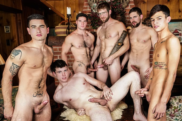Aspen, Colby Keller, Griffin Barrows, Noah Jones, Vadim Black, Xander Brave Twink Peaks Part 4 at Jizzorgy