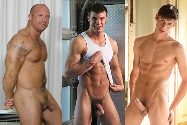 Hot straight guys Dylan N, Anthony Peretti and Michel Seberg jerk off
