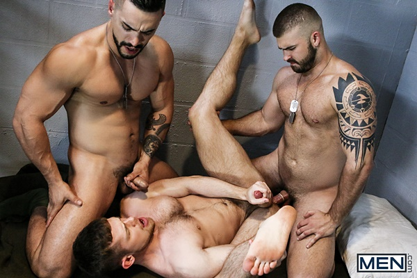 Arad Winwin and Jonah Fontana fuck Kurtis Wolfe in Dangerous Days Part 4 at Drillmyhole