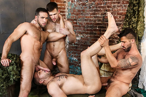 A Sneak Peek of Adam Ramzi and Kurtis Wolfe Fucking Alex Mecum and Julian Knowles at Jizzorgy