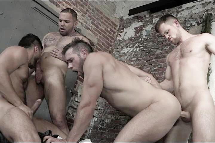 A Sneak Peek of Adam Ramzi and Kurtis Wolfe Fucking Alex Mecum and Julian Knowles at Jizzorgy 01