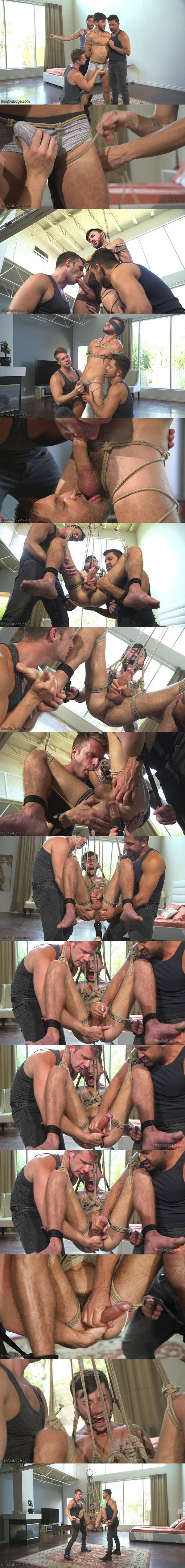Big dicked lean hunk Scott DeMarco blows his load mid-air at Menonedge 02