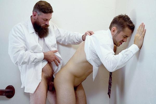Brother Strang barebacks Brother Calhoun in Temple Violation at Mormonboyz