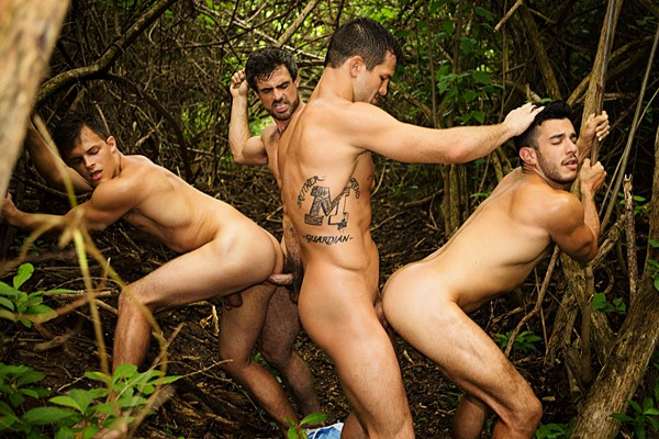 Brysen and Daniel bareback Jayden and Manny in Puerto Rico Day 4 at Seancody